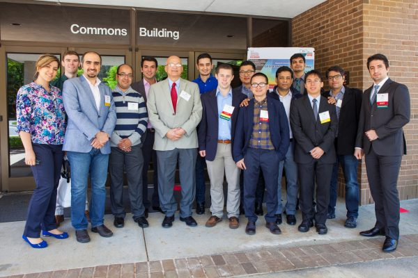 Dr. Mo Gabr (sixth from left) and graduate students in geotechnical engineering.